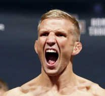 Jul 24, 2015; Chicago, IL, USA; TJ Dillashaw during weigh ins for UFC Fight Night at United Center. Mandatory Credit: Kamil Krzaczynski-USA TODAY Sports